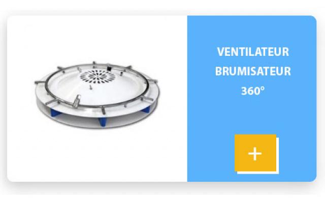 Ventilateur brumisateur 360°
