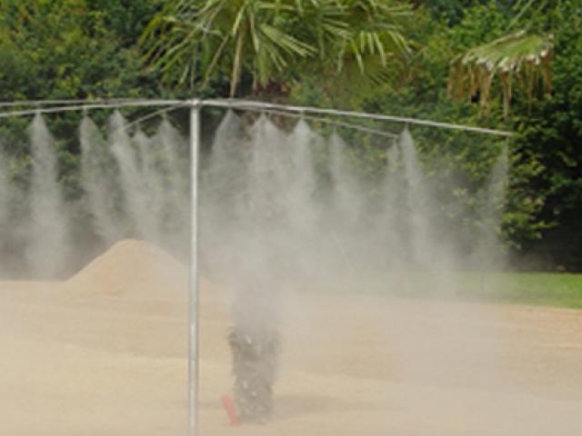Brumisation pour les aires de jeux, parcs, crèches et garderies, piscines et aires d'autoroute