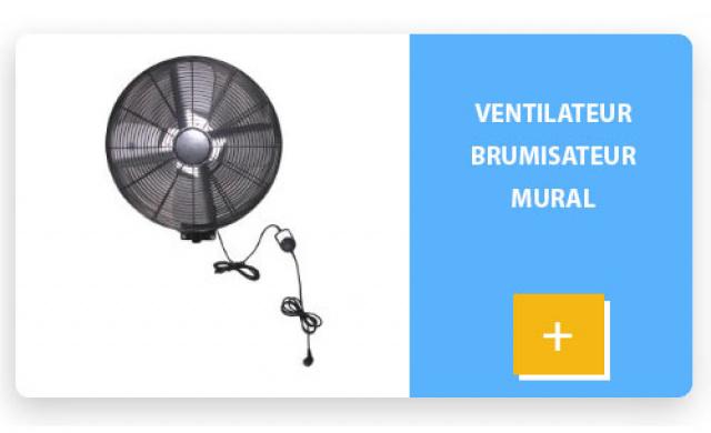 Ventilateur brumisateur mural
